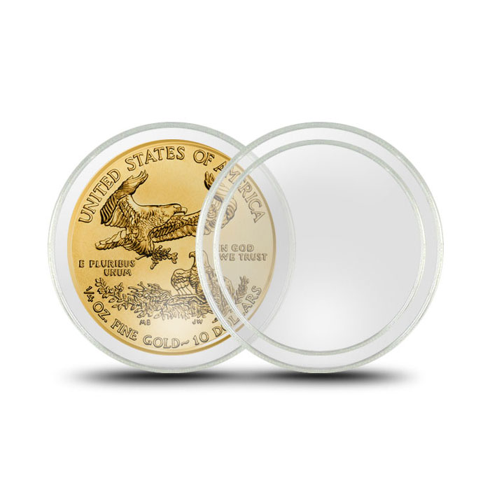 Air-Tite Plastic Coin Holder | 1/4 oz Gold Eagle 22 mm