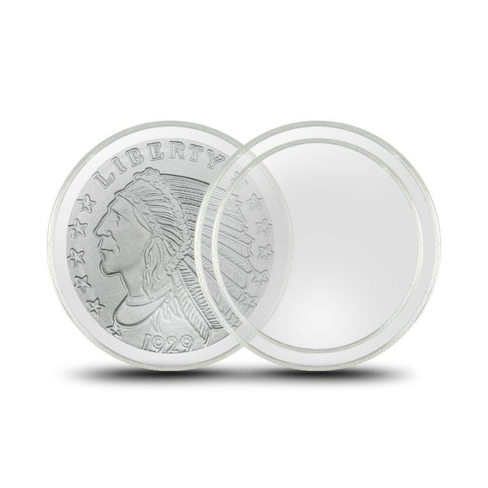 Air-Tite Plastic Coin Holder | Quarter Ounce Silver 26mm