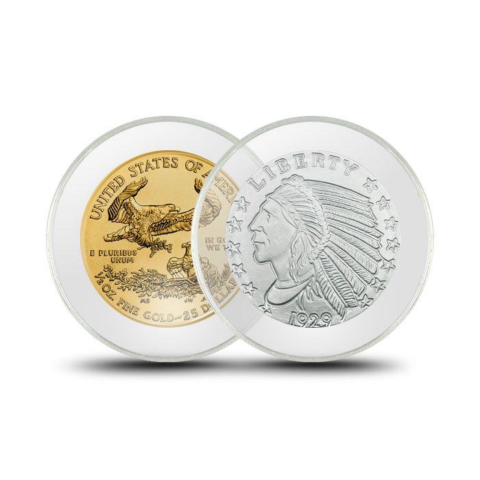 Air-Tite Plastic Coin Holder | Half Ounce Silver/Gold Eagle 32mm