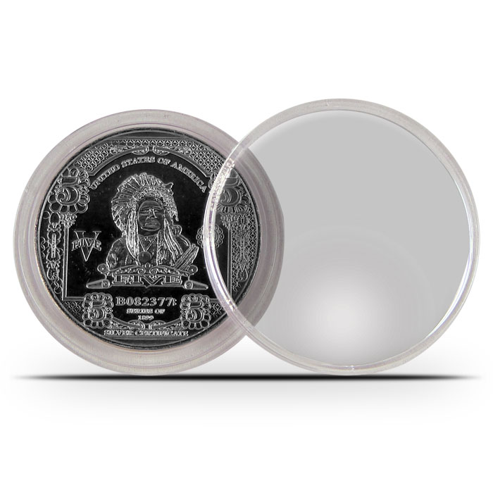 CoinSafe Plastic Coin Holder | 48mm Capsule for 44.8mm 1 oz Nickel Round