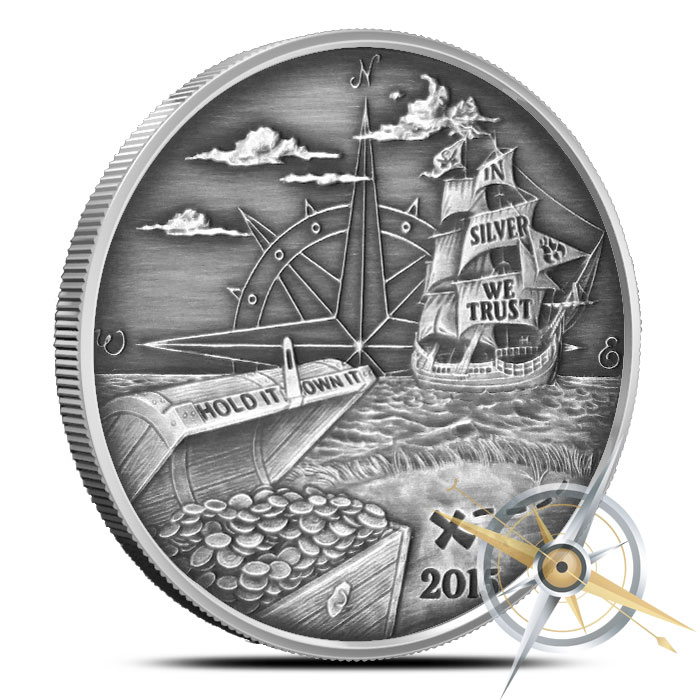 2015 Finding Silverbugs Island 1 oz Silver Round Set   Proof and Antiqued
