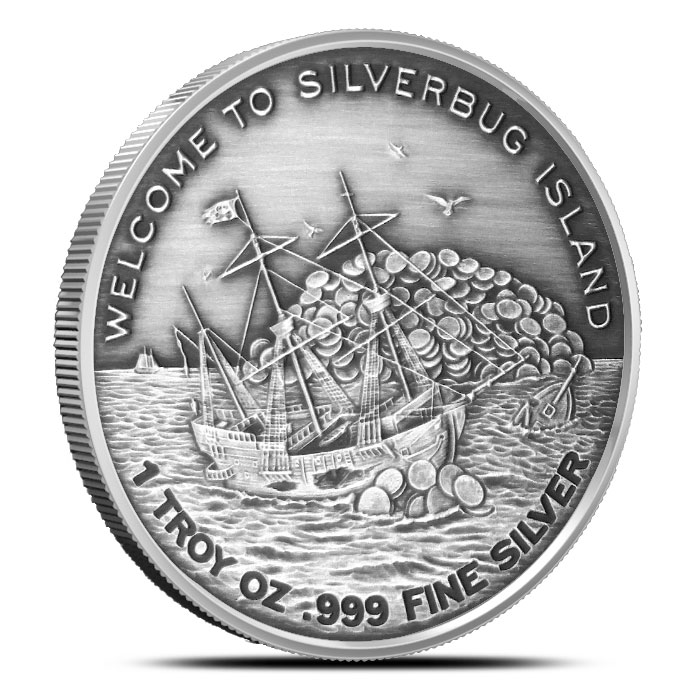 Finding Silverbug Island 1 oz Antiqued Silver Round | Welcome to Silverbug Island