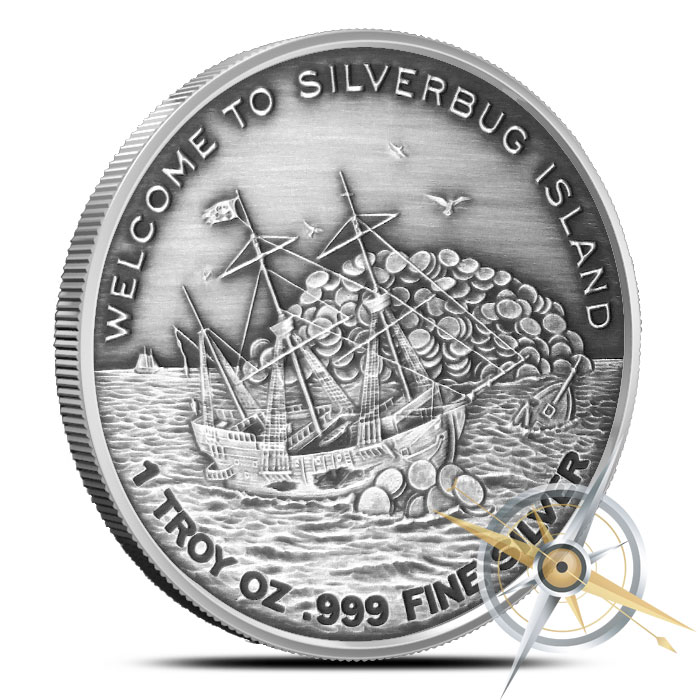 Finding Silverbugs Island 1 oz Silver Round Set   Matching Serial Numbers