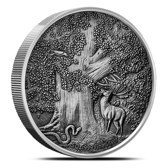 Antiqued Frost Giant Silver Coin