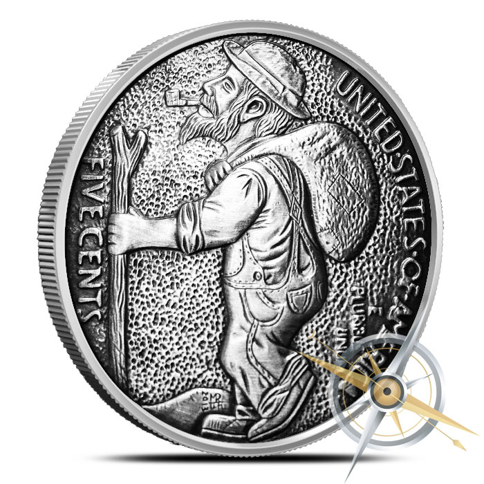 The Train 1 oz Silver Antiqued Round