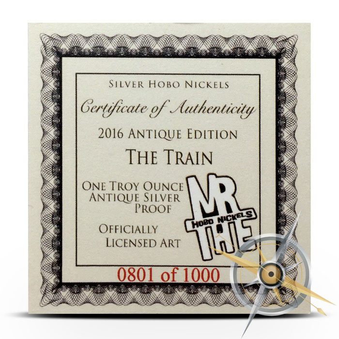 The Train 1 oz Silver Antiqued Round | Certificate of Authenticity