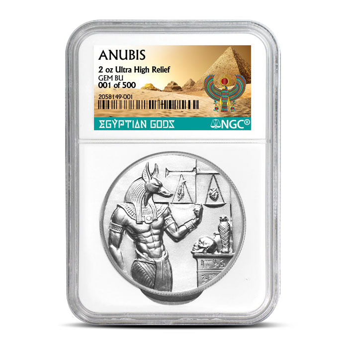 Anubis Silver Round - Numbered | NGC Certified