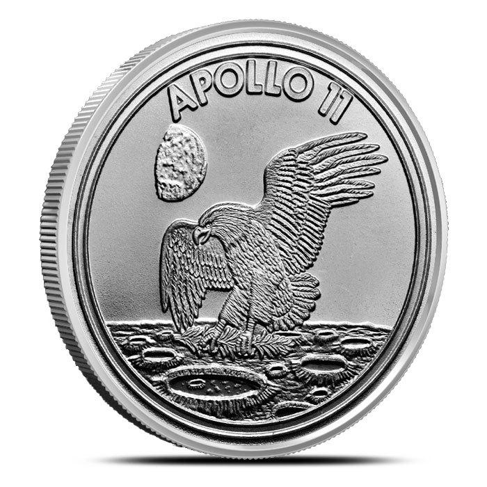 1 oz Silver Apollo 11 Round Obverse