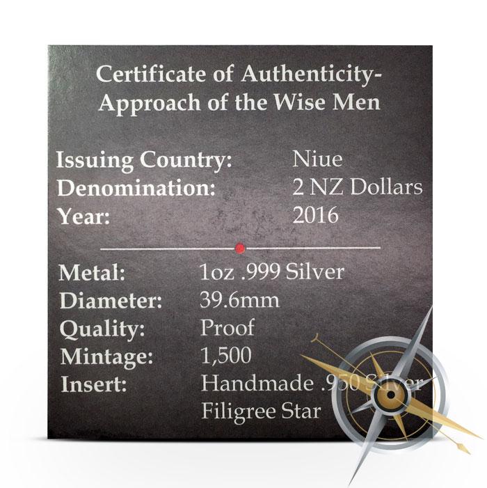 Wise Men 1 oz Silver Coin   COA