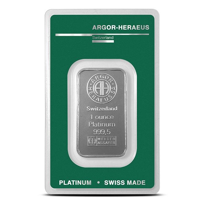 1 oz Platinum Bar | Argor-Heraeus