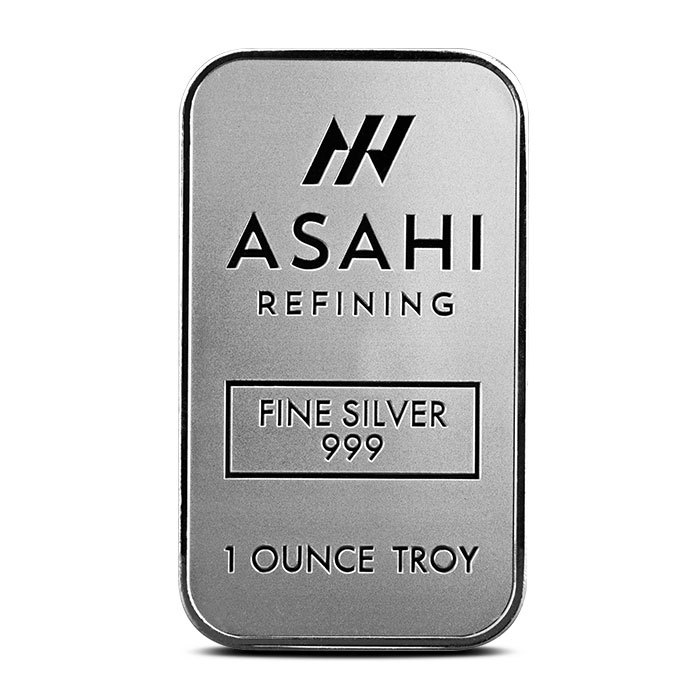 Asahi 1 oz Silver Bar Front