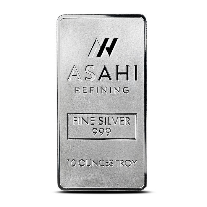 Asahi 10 oz Silver Bar Front