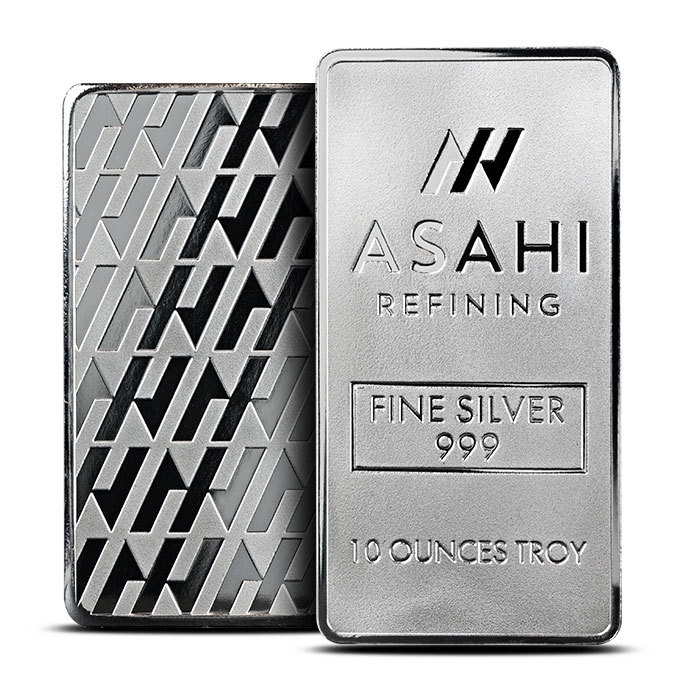 Asahi 10 oz Silver Bar Front & Back