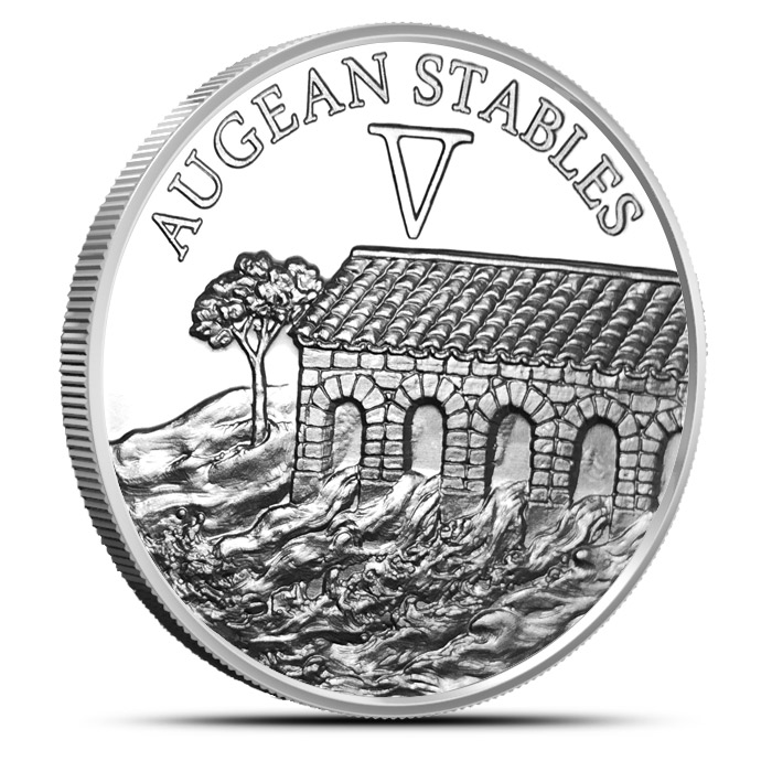 Augean Stables Silver Round | The 12 Labors of Hercules