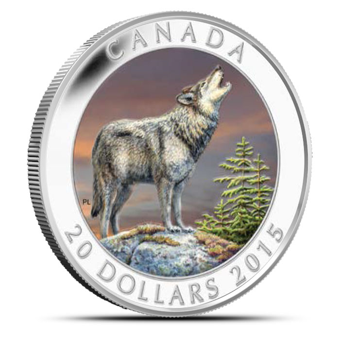 2015 1 oz Canadian Silver The Wolf