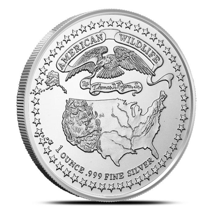 American Wildlife Series | Largemouth Bass 1 oz Silver Round