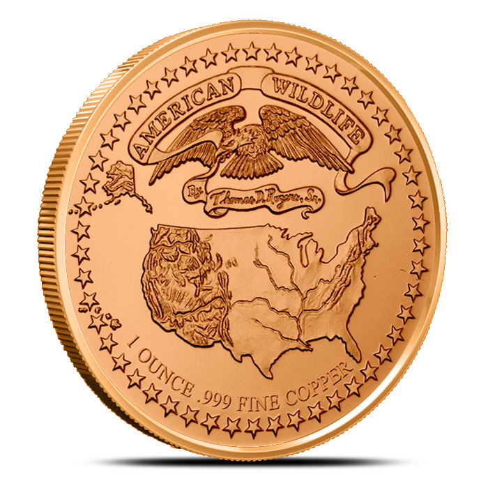 American Wildlife Series | Timber Wolf 1 oz Copper Round
