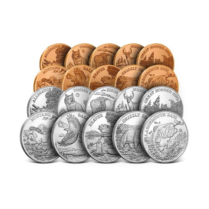 American Wildlife 20 Coin Set
