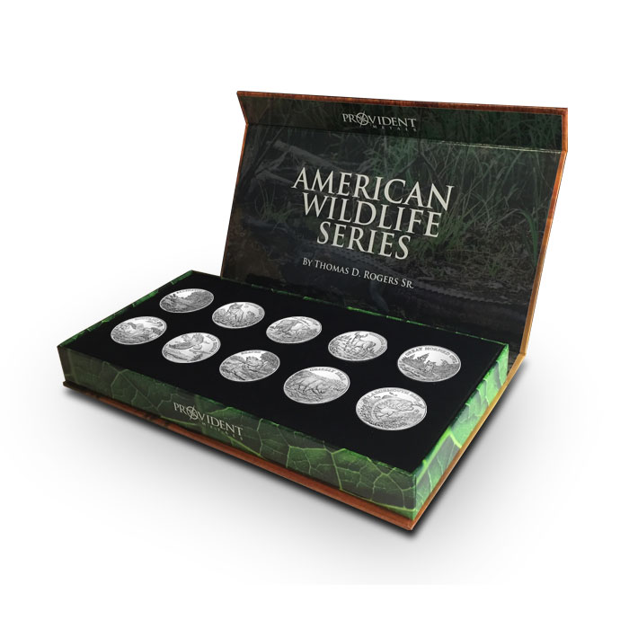 American Wildlife Series Complete Silver Set | Signed by Tom Rogers