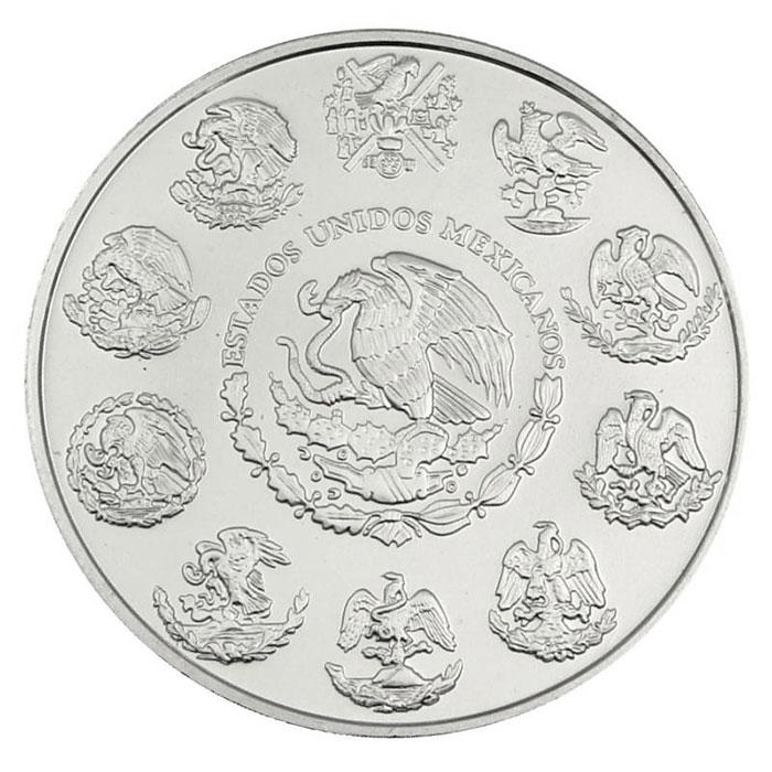2011 Mexican Aztec Calendar 1 Kilo Silver Coin Reverse