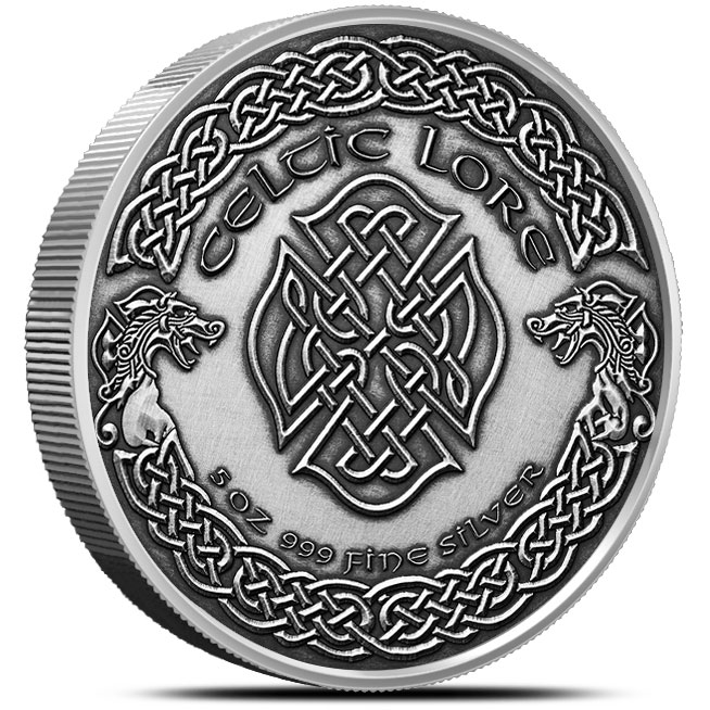 Banshee 5 oz Antiqued Silver Reverse