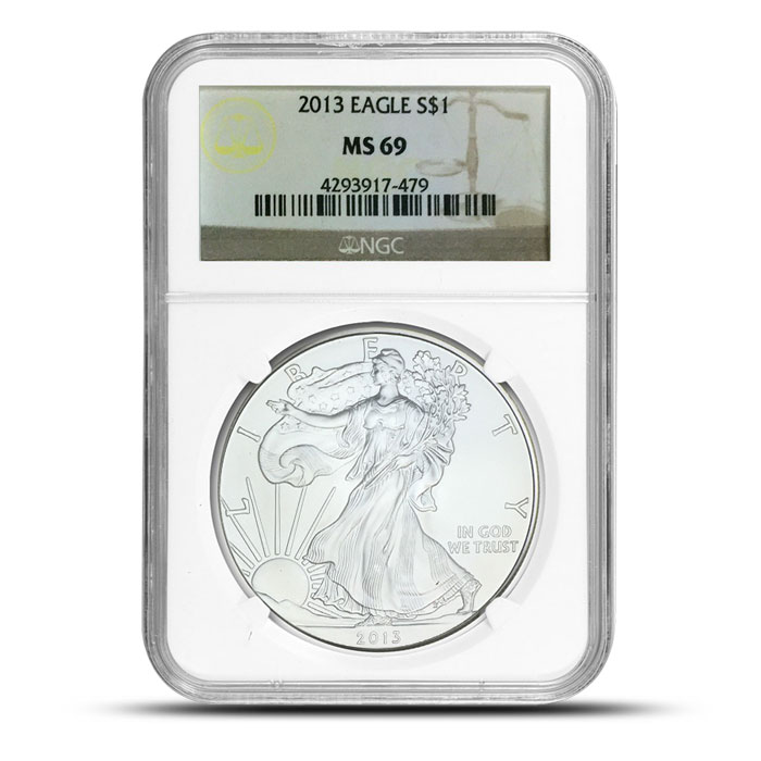 NGC American Silver Eagle MS69 | Provident Metals