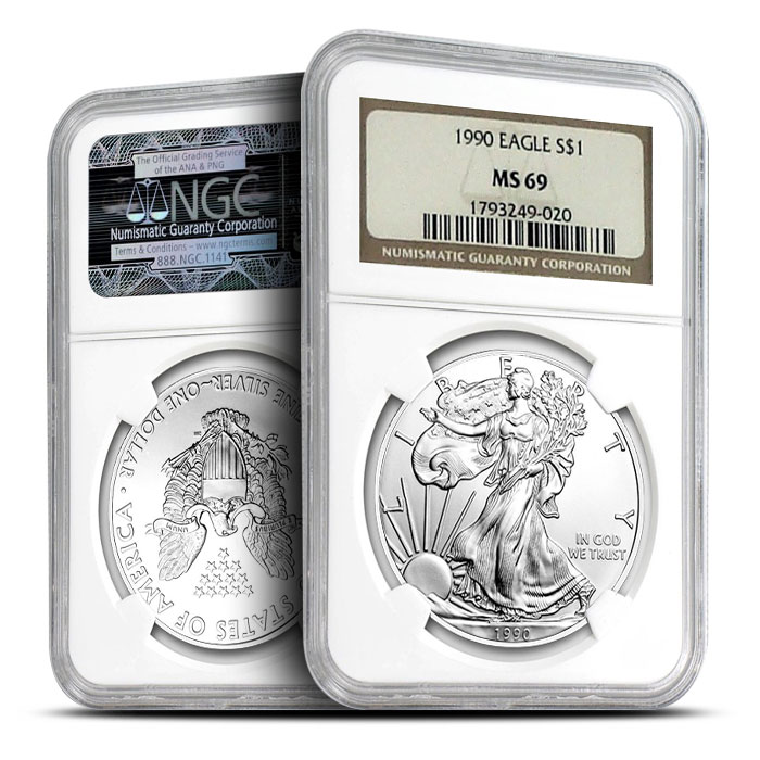 1990 NGC MS69 Silver Eagle
