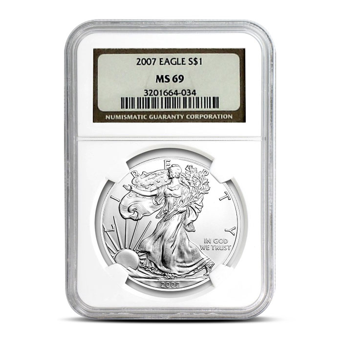 NGC MS69 2006 American Silver Eagle Coin Reverse