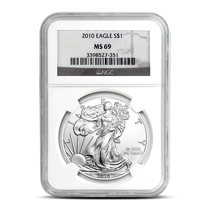2010 Silver Eagle NGC MS69 Obverse