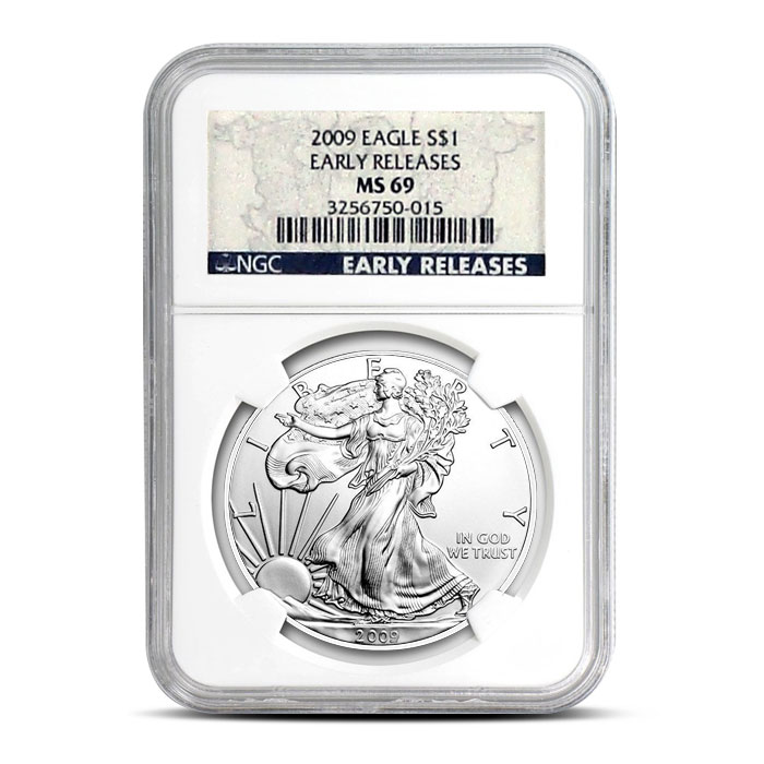 2009 American Silver Eagle NGC MS69 Early Release | Front