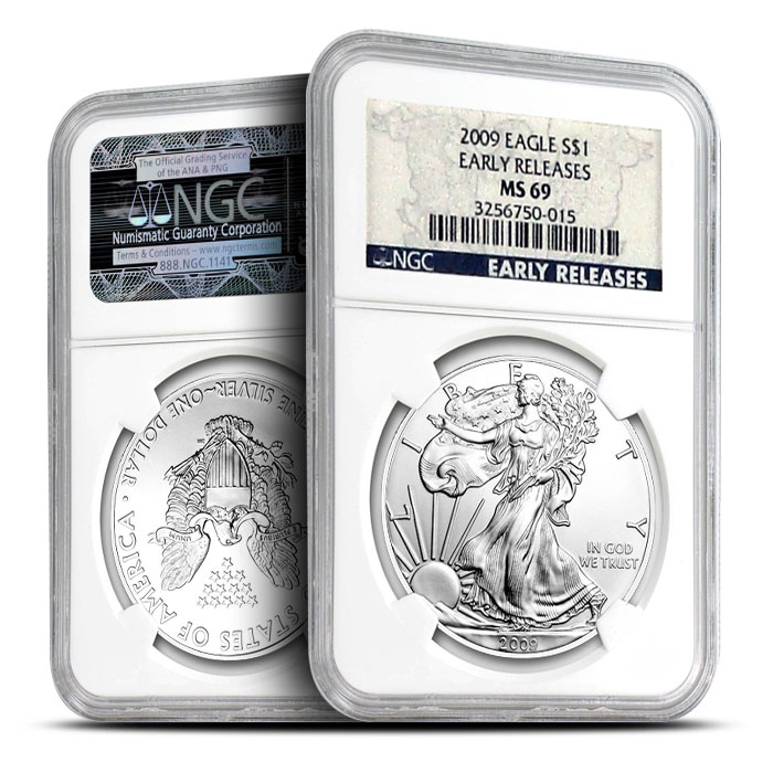 2009 American Silver Eagle NGC MS69 Early Release