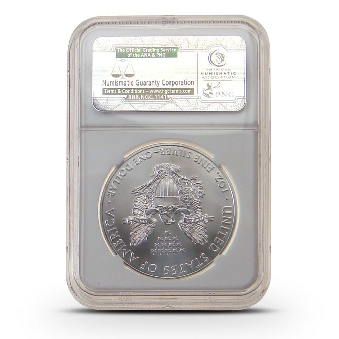 2013 (W) NGC MS70 Early Release American Silver Eagle Reverse
