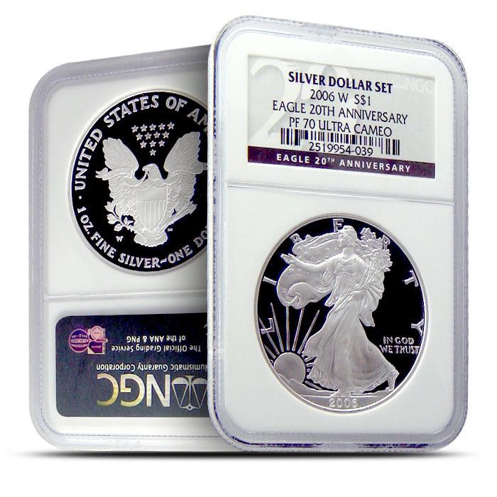 2006 W NGC PF70 Ultra Cameo Silver Eagle