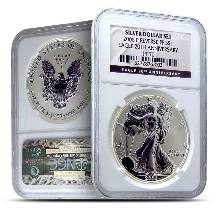 2006 P American Silver Eagle Reverse Proof NGC PF70