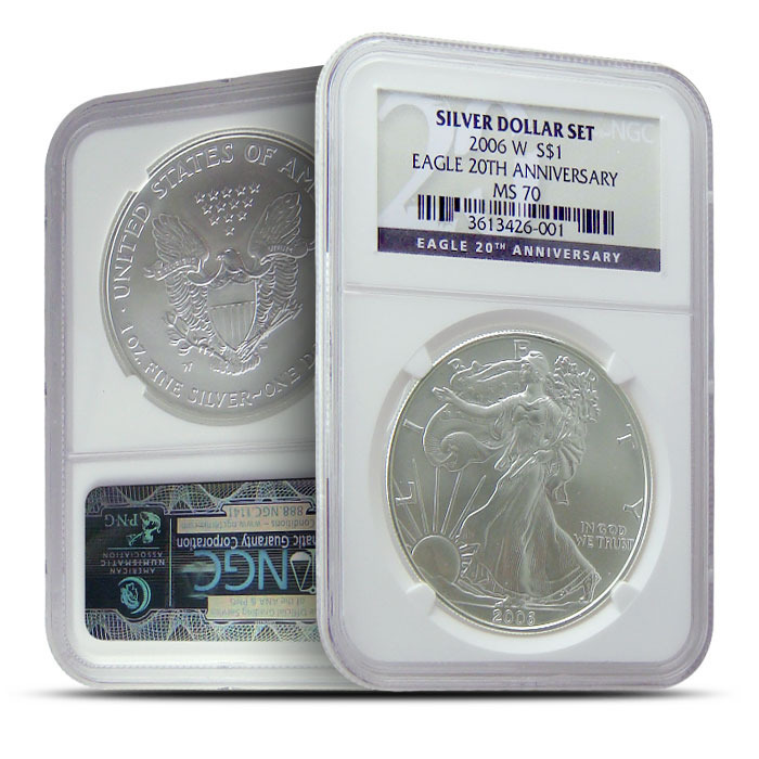 2006 W Silver Eagle NGC MS70