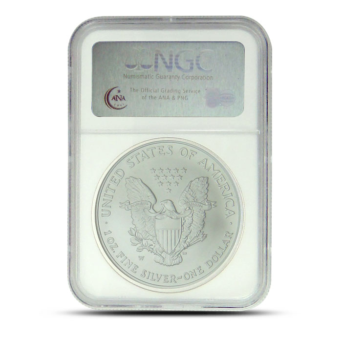 2007-W Silver Eagle NGC MS70 Early Release Reverse