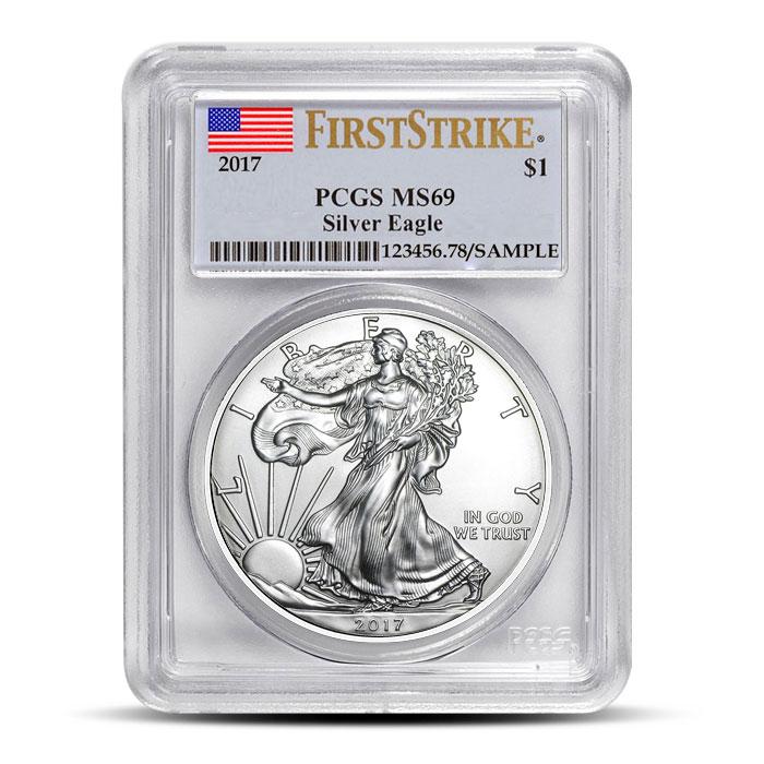 American Silver Eagle Flag Label