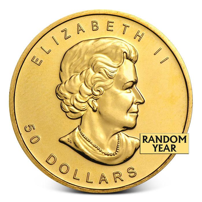 1 oz Canada Gold Maple Leaf Coin Random Date