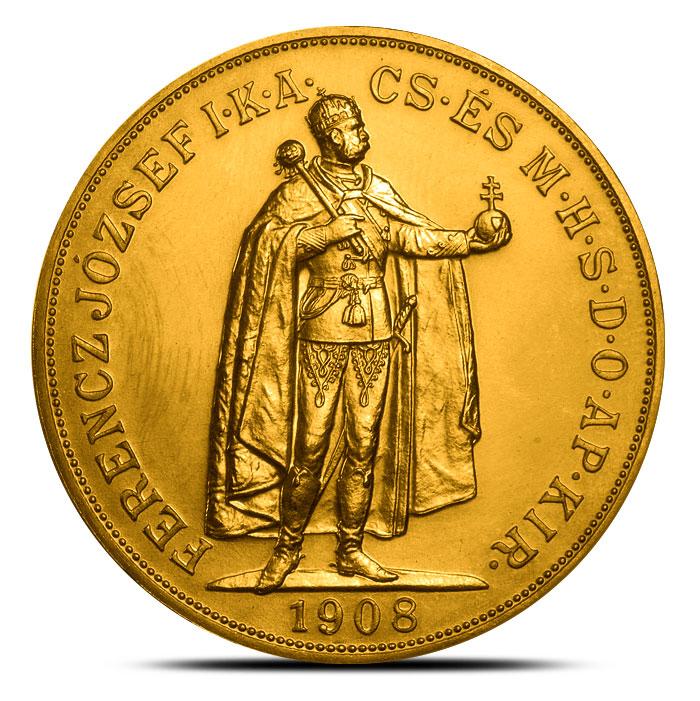 Hungary 100 Corona Gold