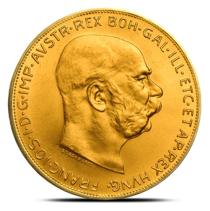 Austrian 100 Corona Gold Obverse