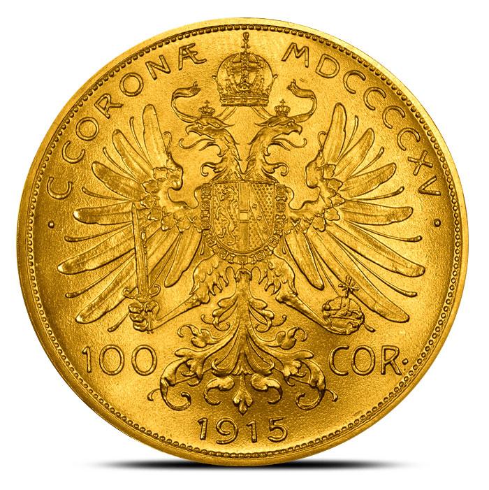 Austrian 100 Corona Gold Reverse