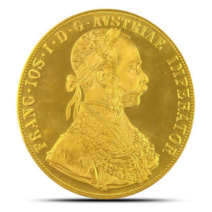 Austria 4 Ducat Gold Coin Obverse