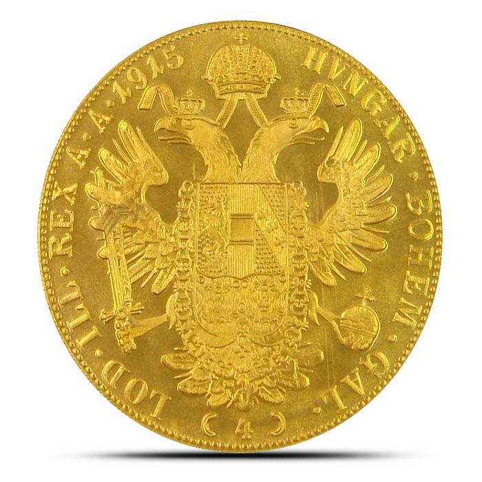 Austria 4 Ducat Gold Coin Reverse