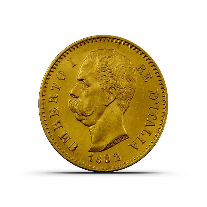Italy 20 Lire Gold Coin Obverse