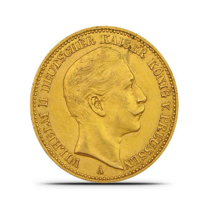 Germany 20 Mark Gold Coin Obverse