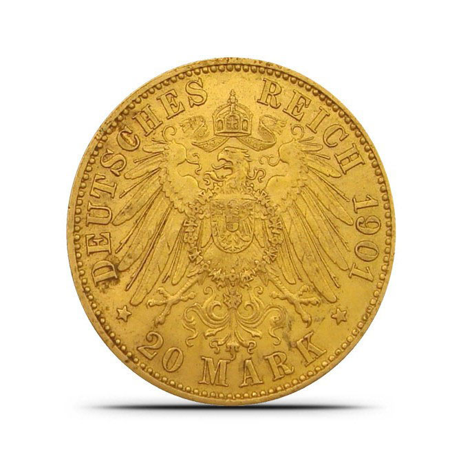 Germany 20 Mark Gold Coin Reverse