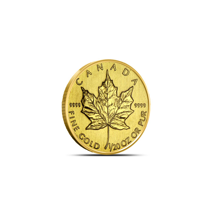 Twentieth Ounce Canadian Gold Maple Leaf