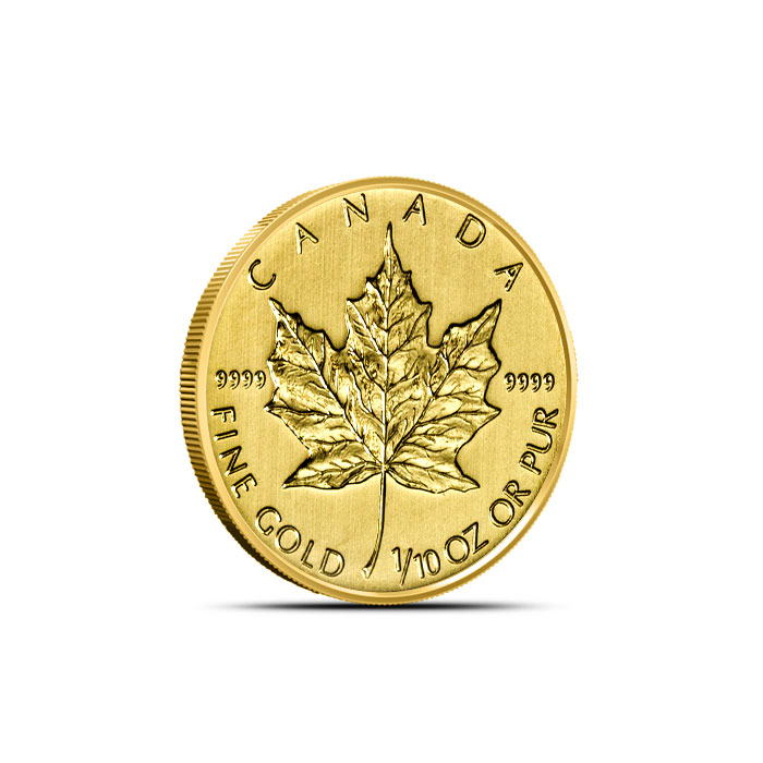 2013 1/10 oz Canadian Gold Maple Leaf
