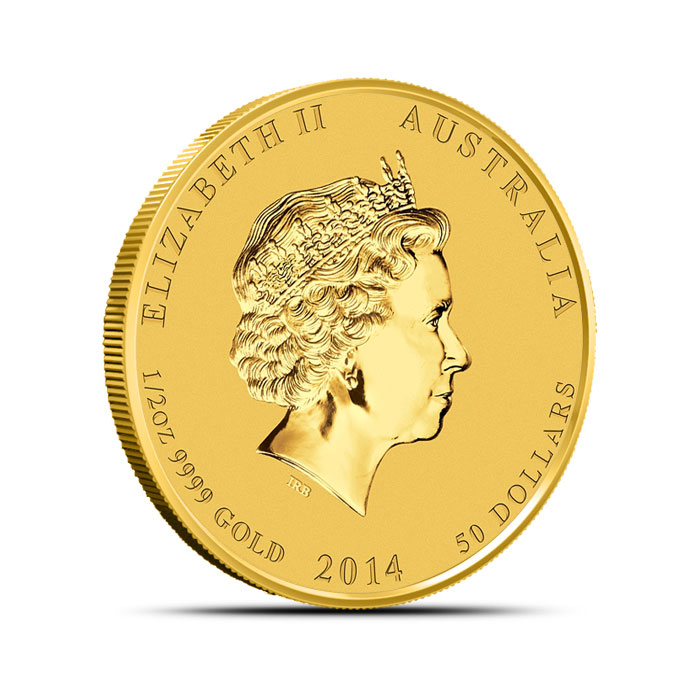 2014 1/2 oz Gold Lunar Year of the Horse Coin | Series 2 Reverse