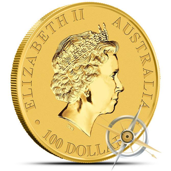 2014 1 oz Australian Gold Kangaroo Coin Reverse